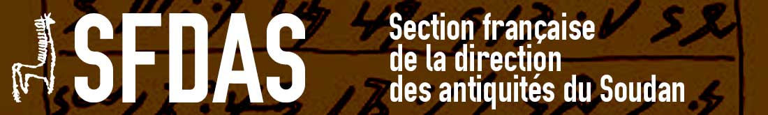 sfdas : Section franaise de la direction des antiquits du Soudan